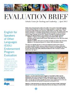 evaluation executive summaries reports evergreen data
