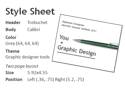 style sheet for workshop slides