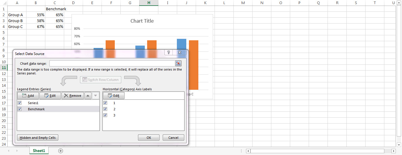 excel 2007 add goal line to bar chart